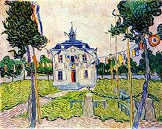 Auvers Town Hall in 14 July 1890 - Vincent van Gogh