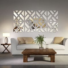 mirrored chevron print wall decoration home vine butterfly decals removable decorative decor stickers ebay