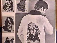 Vtg Mary Maxim Dog Poodle Beagle Husky Cowichan Sweater Knitting Pattern 38-44 l