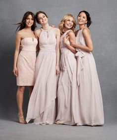 Incredible pink bridesmaid dresses from @donnamorgannyc