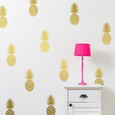 12 Pineapples/set Pineapple Wall Decal DIY Wall Sticker Window Sticker Party Decor Nursery Kids Room Wall Stickers Home Decor