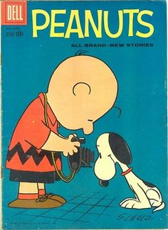 """Charlie Brown with what it seems to be a Polaroid. Hope it counts as a celebrity!""It does!  Looks more like an old Kodak though with a misp..."