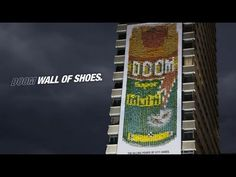 "Doom ""Wall of Shoes"" Great #OOH campaign, including a competition to involve people and encourage word-of-mouth"
