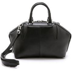 Alexander Wang Soft Emile Doctor Bag ($1,030) ❤ liked on Polyvore featuring bags, handbags, black, leather gladstone bag, leather doctor bag handbag, doctor bag, black handbags and black doctor bag