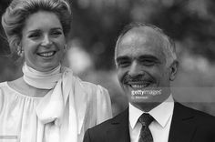 King Hussein of Jordan (1935-1999) with his fourth wife Queen Noor on June 01, 1984.