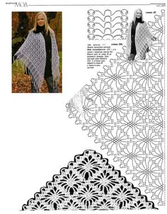 Shawl with diagram