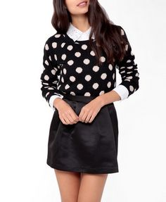 Dotted Raglan Top | FOREVER 21 - 2044354550