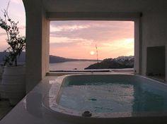 White House Villa in Santorini, Greece #outdoor #pool #architecture #design