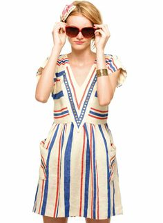 Crushing on this dress from Lauren Moffatt's Spring lookbook via A Beautiful Mess.