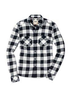 TNA BANFF SHIRT - Lightweight brushed flannel in exclusive, custom-designed plaid patterns