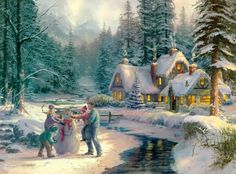 thomas kinkade holiday