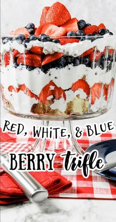 This easy berry trifle is perfect for feeding a crowd on Memorial Day, July 4th, or anytime this summer. With pound cake, fluffy whipped cream, and fresh strawberries and blueberries, everyone is sure to love this patriotic dessert! The no bake trifle is a light and refreshing end to any summer picnic or holiday meal! #fruittrifle #freshfruit #strawberries #strawberry #blueberries #july4th #4thofjuly #independenceday #memorialday #dessert #picnicfood #picnicsidedishes 4th July Food, Berry Trifle, Patriotic Desserts, Pound Cake, Fresh Fruit, Blueberry, Berries, Baking, Ethnic Recipes