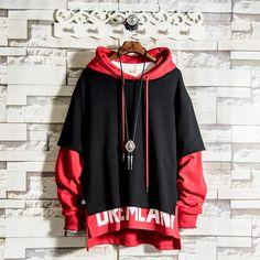 Mens Hip Hop Pullover Hoodies Streetwear best pants for men la mafia moda masculina street street moda mhm esti Moda Outfits, Hip Hop Outfits, Cute Outfits, Tomboy Outfits, Stylish Hoodies, Rocker Outfit, Cut Shirts, Band Shirts, Hoodie Outfit