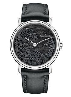 """Blancpain Métiers d'Art Villeret """"The Great Wave"""" Watch Front"""