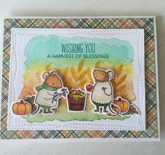 MFT stamps Harvest Mouse