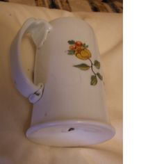 milk glass tankard