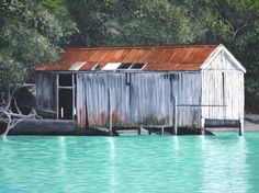 Time and Tide wait for no Man - Rosslyn Johnson $500+ Time And Tide, Cabin, House Styles, Outdoor Decor, Artwork, Home Decor, Work Of Art, Decoration Home, Auguste Rodin Artwork