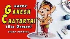 Happy Ganesh Chaturthi Bal Ganesh (speed drawing)