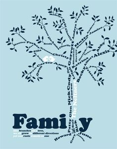 Grandma Gift- Family Tree - 8x10 Custom Print- Personalized gift ...