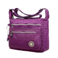 Sale 20% (21.99$) - Women Nylon Lightweight Messenger Bags Waterproof Shoulder Bags Outdoor Crossbody Bags