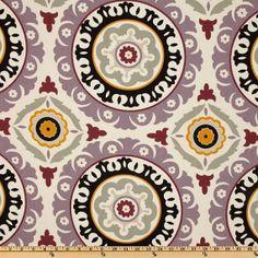 Waverly Solar Flair Onyx/Lilac home decor fabric