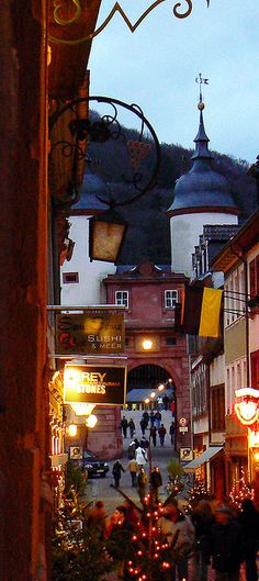 Heidelberg, Germany  Went to the Christmas market!  Lovely!