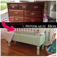 Old Dresser Drawer To Raised Storage Box (super Easy Diy!)