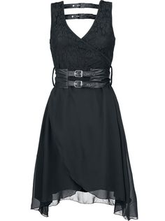 Black Moon - Dress by Vixxsin Punk Dress, Goth Dress, Lolita Dress, Dark Fashion, Gothic Fashion, Steampunk Fashion, Emo Fashion, Street Fashion, Dress Outfits