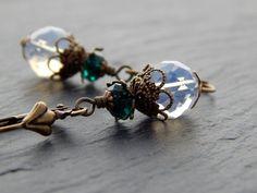 Ohrringe - Opal & Smaragd von Perlenfontäne auf DaWanda.com