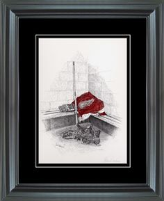 I LOVE, LOVE, LOVE this pic!!!!    Hockey Art Detroit Red Wings After Shiny Color Framed Print - Shop.NHL.com