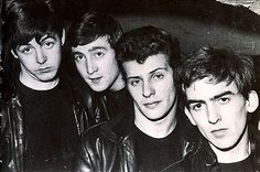 Early Beatles photo when Pete Best (second from right) was their drummer
