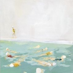 swimming painting
