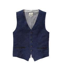 Indigo Tailored Vest > Mens Clothing > Blazers at Scotch & Soda