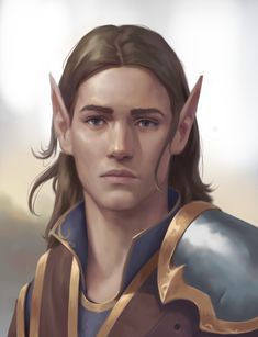 m High Elf Ranger Medium Armor portrait male Forest Community lg Fantasy Races, High Fantasy, Fantasy Rpg, Character Concept, Character Art, Character Design, Elf Characters, Fantasy Characters, Male Elf
