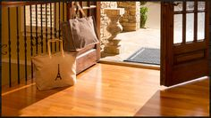 Mohawk's beautiful hardwood makes this entryway an absolute stunner. You can win some of the items seen in the photo, too. Just click on the image for details.