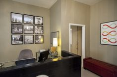 Photography of our #heights neighborhood is the backdrop to the front desk