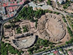 The Roman theater and amphitheater at Augusta Emerita (Mérida), Spain.