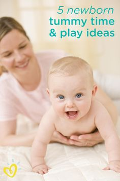 Your new baby is interacting with you all the time through cooing, gurgling, and smiling when she sees your face and hears your voice. Here are some newborn activities and ideas to help make playtime together even more fun by using colorful toys, singing, and reading during tummy time.