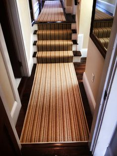 This Is A Carpet Remnant Made Into A Stair Runner. Visit Carpetworkroom.com  For