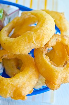Beer Battered Onion Rings - I wonder if these are like the ones my mom used to make?!?!?!