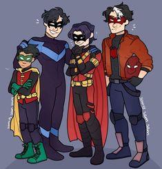 "samysamsamarts: ""I love Dick Grayson these guys so much ❤️ They are the only batfam I care about ! Batman Art, Batman And Superman, Batfamily Funny, Al Ghul, Batman Family, Dc Comics Art, Tim Drake, Dc Characters, Dc Heroes"