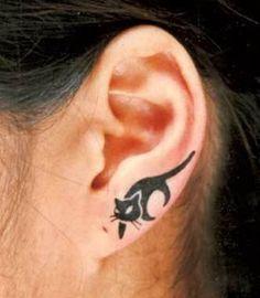 Ear Tattoos for Girls (2)