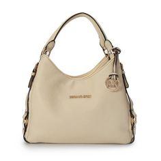 Cheap Michael Kors Bedford Large Ivory Shoulder Bags Clearance  #Michael #Kors #Outlet
