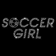 Soccer Girl Rhinestone TShirt All Colors  Tshirt by JeylaFashions