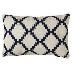 Threshold™ Woven Diamond Patterned Pillow - Blue/White