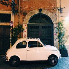 little fiat in rome, italy!
