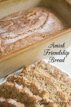 Amish Friendship Bread Recipe and Printable. This is a fun tradition to start in your neighborhood on New Years Day. #Bread #Recipe #Starter