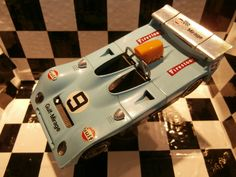 MEBETOYS GULF MIRAGE no. 9 scale 1:28 blue Mebetoys Mattel  OLD VINTAGE