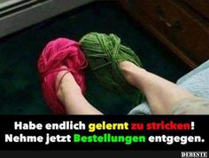 Habe endlich gelernt zu stricken! | Lustige Bilder, Sprüche, Witze, echt lustig