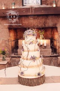 Country Rustic Wedding | colorful rustic wedding cake 2 likes 5 repins rustic theme wedding ...